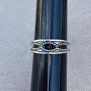Sterling accent rings for a solitaire ring